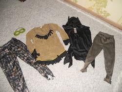 Новогодний костюм индеец разбойник бетмен на 7-10лет