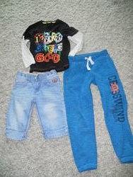 Вещи мальчику 4-6лет штаны шорты реглан
