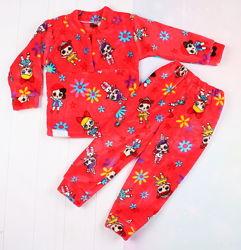 Очень теплая пижама. Махровая пижамка, очень мягкая, для мальчика и девочки