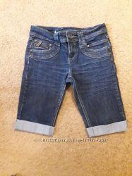 Удлиненные шорты синие New look generation р. 152.