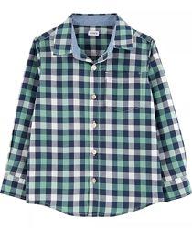 Стильная хлопковая рубашка Carters размер 4т на рост 104-110см