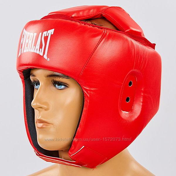 Шлем для бокса открытый с усиленной  зашитой макушки Everlast.