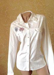 Белая рубашка длинный рукав
