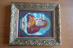 Икона Божией Матери Почаевская из бисера
