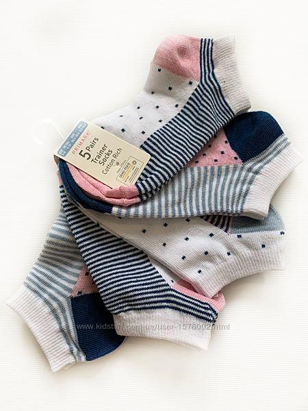 Носки для девочек набор из 5 шт, primark.