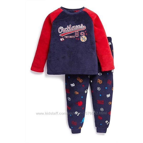 Пижама для мальчика пушистый флис primark, англия.
