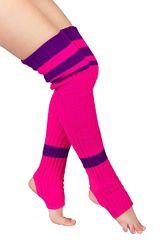 Гетры розовые с фиолетовой полосой 80см  0545