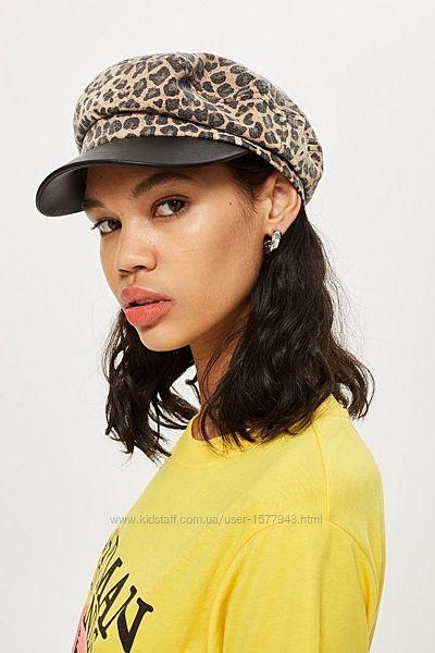 Кэжуал кепка Topshop с леопардовым принтом
