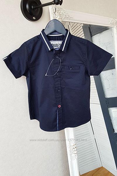 Темная синяя рубашка на 4 года