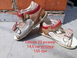 Сандали сандалі босоніжки босоножки Чико Chicco 23 размер, 14см стелька