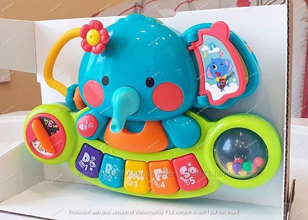 Детская музыкальная игрушка - пианино Слоненок.