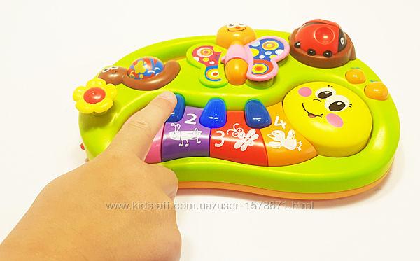 Развивающая игрушка  музыкальная, Гусеница - пианино. ТМ Hola