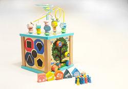 Игровой центр сортер развивающая игрушка Деревянный мультикуб MU Kiy