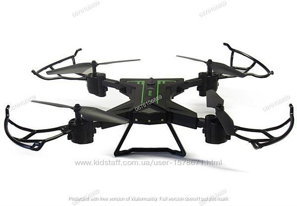 Квадрокоптер дрон с камерой, Wi-Fi и подсветкой, мощный аккум 3.7V, Can Xi