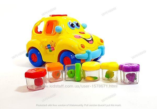 Сортер детский, развивающая игрушка в виде машинки, Hola Toys