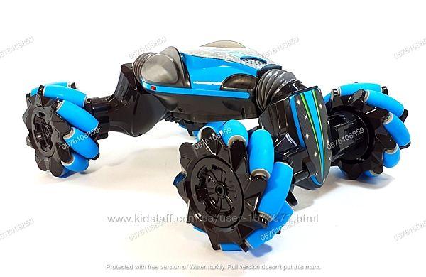 Трюковая машинка перевертыш трансформер, с сенсор. пультом для руки, на р/у
