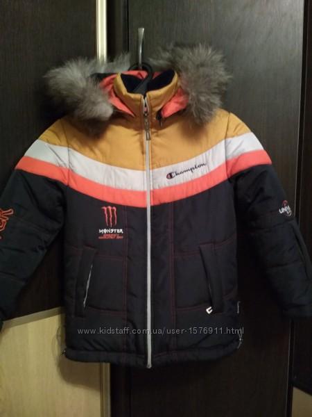 Зимняя куртка для мальчика 134-140 см