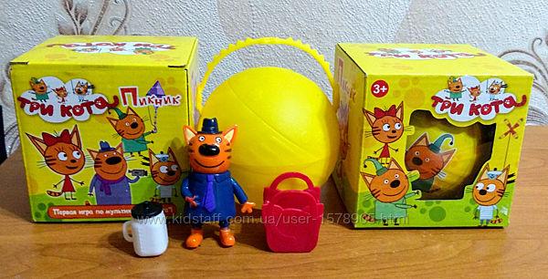 Герои Три кота в яйце в коробке