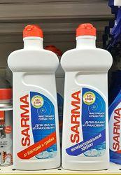 Чистящий гель для ванн и раковин Sarma универсал без хлора удаляет ржавчину