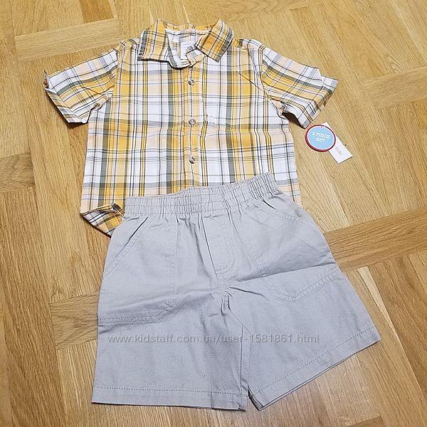 Набори Carters поло - шорти, сорочка - шорти, з етикетками, оригінал з США