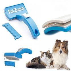 Щетка расческа триммер для расчесывания и стрижки шерсти животных Pet Zoom