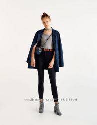Джинсовая куртка пиджак жакет оверсайз  zara pull&bear xs s