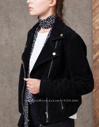 Кожаная замшевая куртка косуха stradivarius s