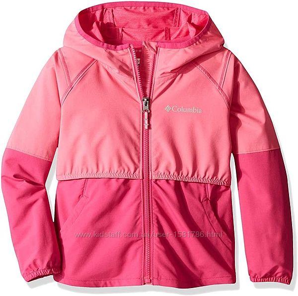 Куртка ветровка софтшел Columbia Canyon Softshell для девочек 8-10 лет