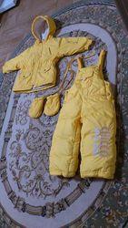 Зимний детский термо костюм куртка и полукомбинезон chicco thermore