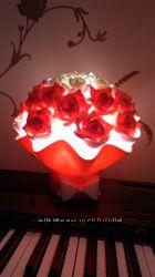 Світильник букет з троянд
