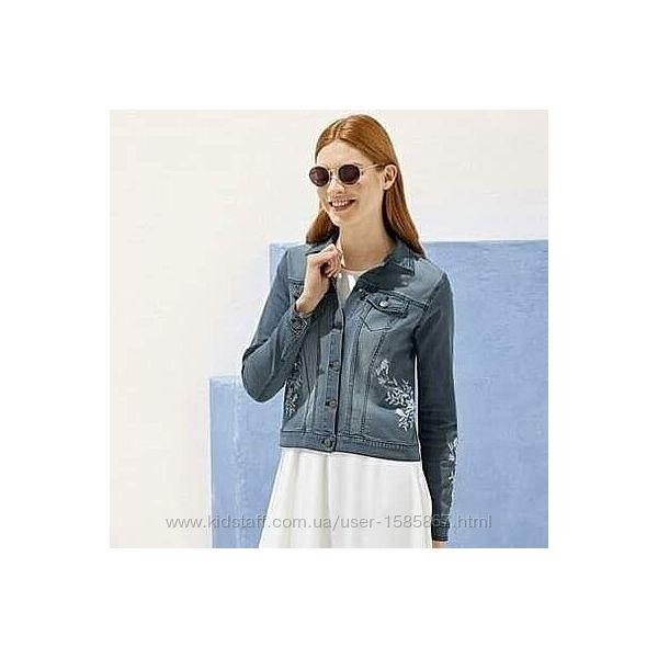 Джинсовая куртка Esmara с вышивкой, размер S, М