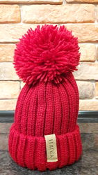 Теплая шапка FURTALK с помпоном в комплекте два съемных помпона.
