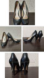 туфли  черные из натуральной кожи Aldo  Алдо