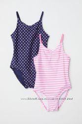 Сдельные купальники девочке на 7-8 лет. Primark, Chicco, H&M