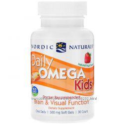Nordic Naturals, Омега для детей, фруктовый вкус, 500 мг, 30 капсул