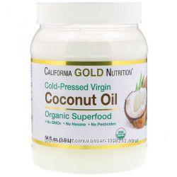 Органическое нерафинированное кокосовое масло 1600мл и 473мл