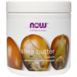 Now Foods, масло ши, shea butter, 207 мл
