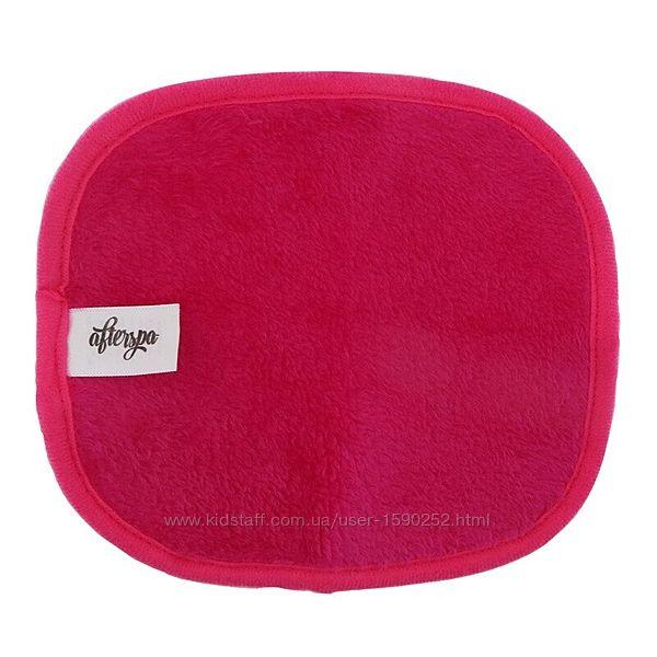 AfterSpa, Волшебная многоразовая салфетка для снятия макияжа -мини, розовая