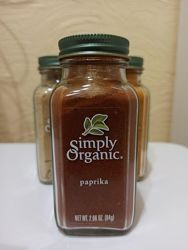 Simply Organic, органические специи, Паприка, 84 г