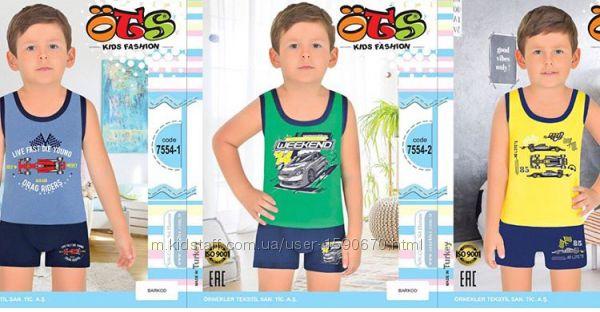 Детские-нательные комплекты турецкой фирмы Ots шорты-майка