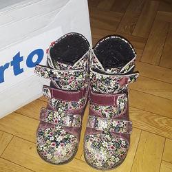 Ортопедические демисезонные ботинки для девочки