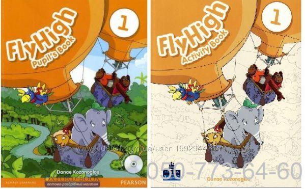 Новый Fly High Pupil&acutes Book и Activity Book 1, 2, 3, 4 English World
