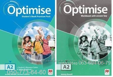 Цветной комплект Optimise A2 Students Book work Book