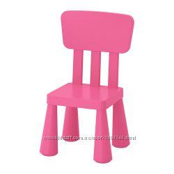Детский стул розовый Mammut Маммут Ikea Икеа 803. 823. 21