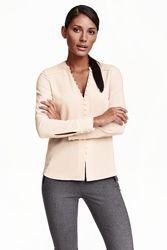 Шикарная блузка премиум коллекции h&m пудрового цвета