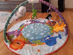 Детский развивающий коврик круглый Умный малыш