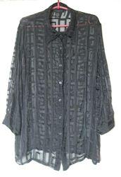 Блуза шелковая прозрачная anne carson большой размер