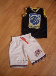 Баскетбольная форма, шорты, майка, Rebel, на 7-8 лет, 128 рост
