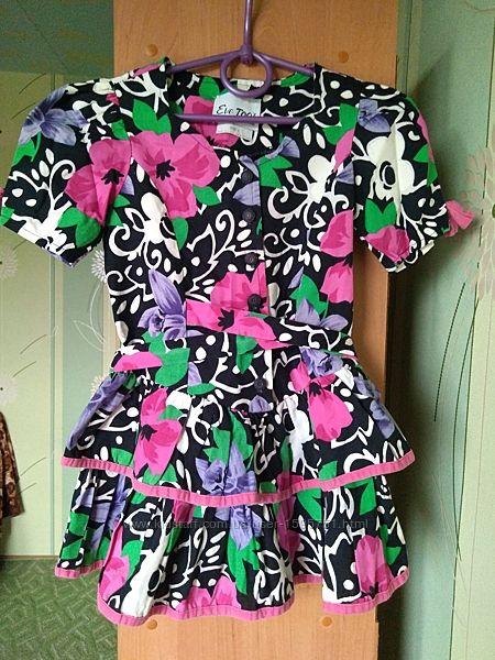 Платье на девочку 4 года короткий рукав
