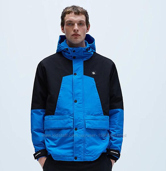 Демисезонная куртка Zara, с контрастными вставками, мужская